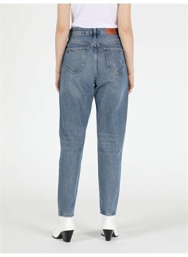 Colin's CL1049681_Q1.V1_DN00207 896 Marıa Yüksek Bel Daralan Paça Mom Fit Jean Kadın Jean Pantolon Renkli